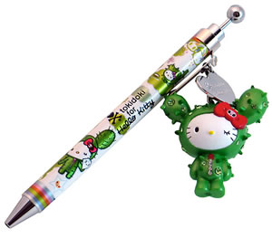 Hello Kitty cute Tokidoki cactus charm ballpoint pen for school