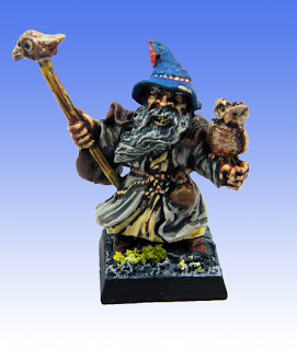 Essex Miniatures Dwarf Wizard (I think by Bob Olley)