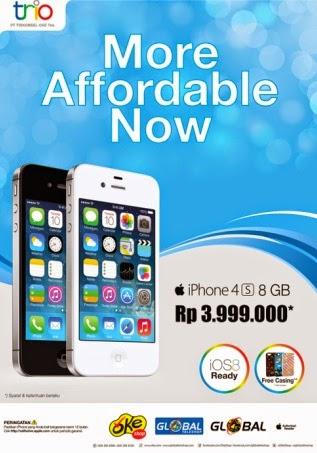 iPhone 4s Rp 3.999.000 (bonus casing)