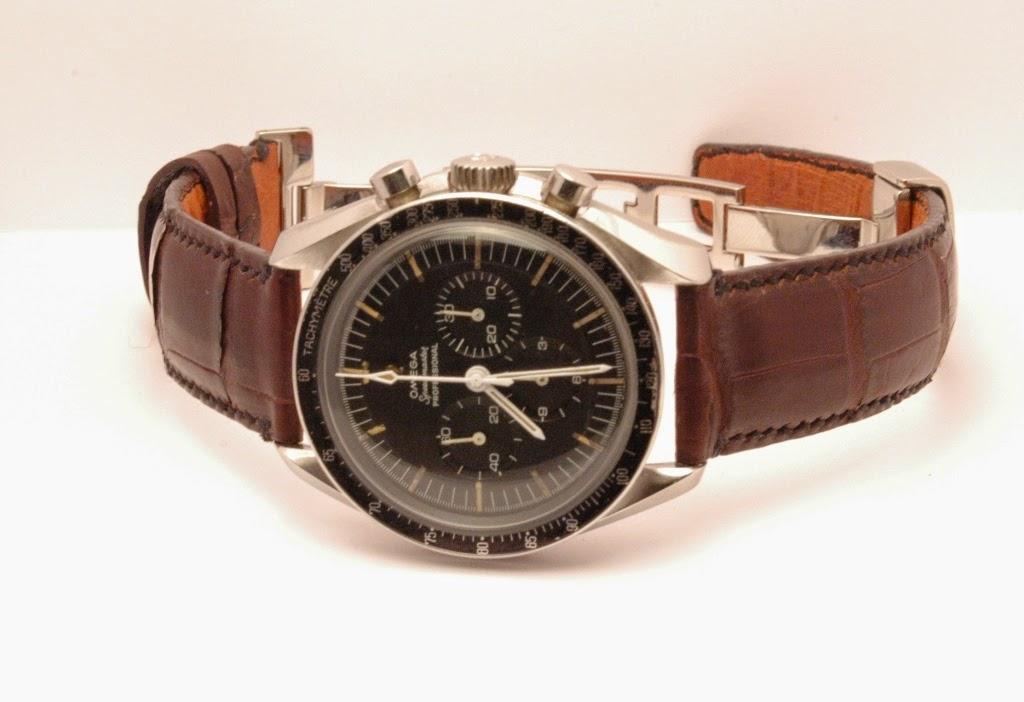 Bracelet cuir montre omega homme