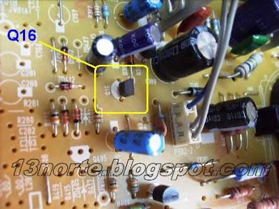 Transistor Q16 para protección
