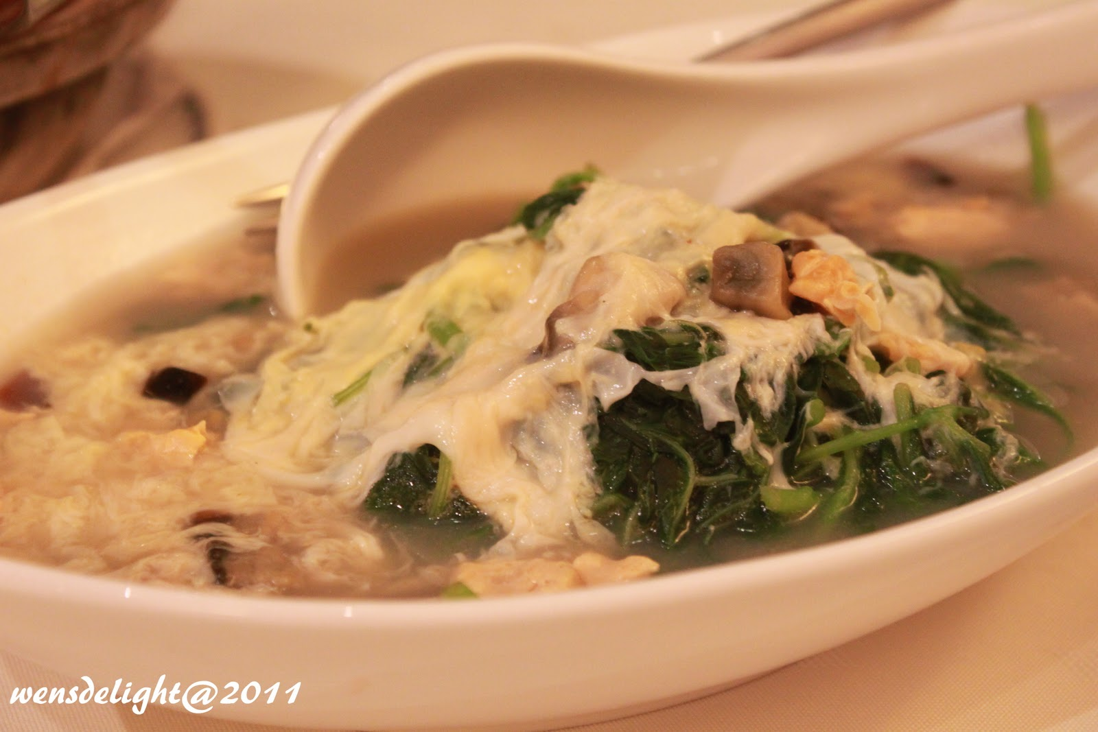 Soupy Chinese Spinach with Eggs