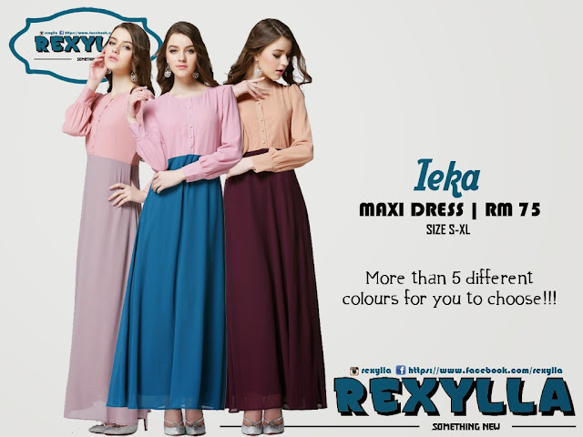 rexylla, maxi dress, classic button, ieka collection