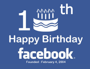 10th Happy Birthday Facebook