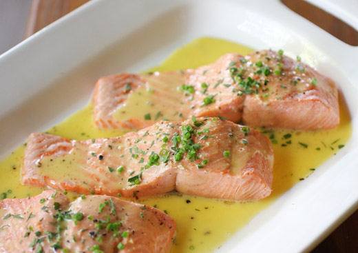 How to Make Oven Baked Salmon with Lemon Cream Sauce: