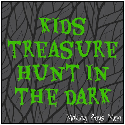 Kids treasure hunt in the dark