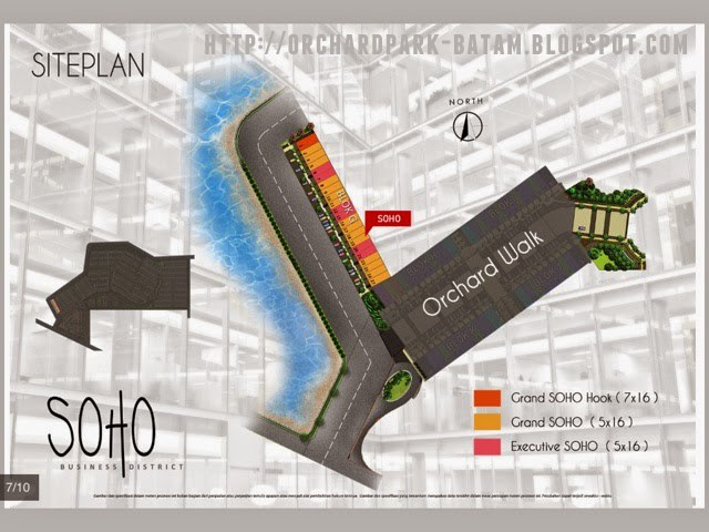 Site Plan SOHO Orchard Park Batam