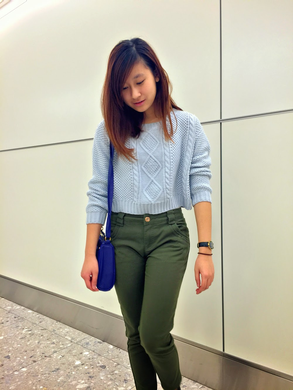 MASH UP: Light Blue Cropped Sweater | Travel and Life | By Carina ...