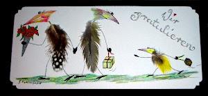 "Meine ""Vogelfedern--Federvögel"""