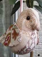patron pajaro de tela, bird pattern rag