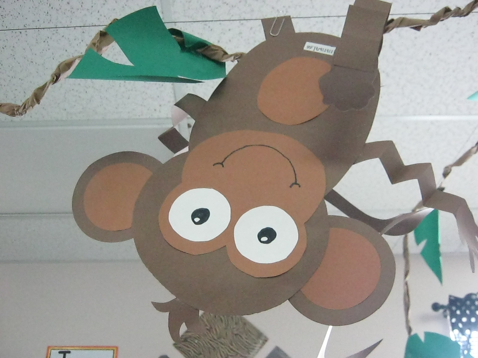 Shannon 39 s lil 39 kindercuties welcome to the jungle for Monkey crafts for preschool