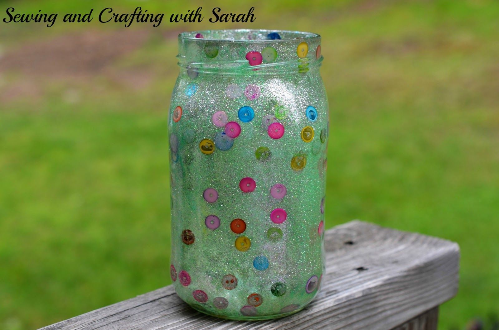 DIY Polka Dot Etched Jar