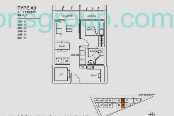 The Rise 1+1 Floor Plans