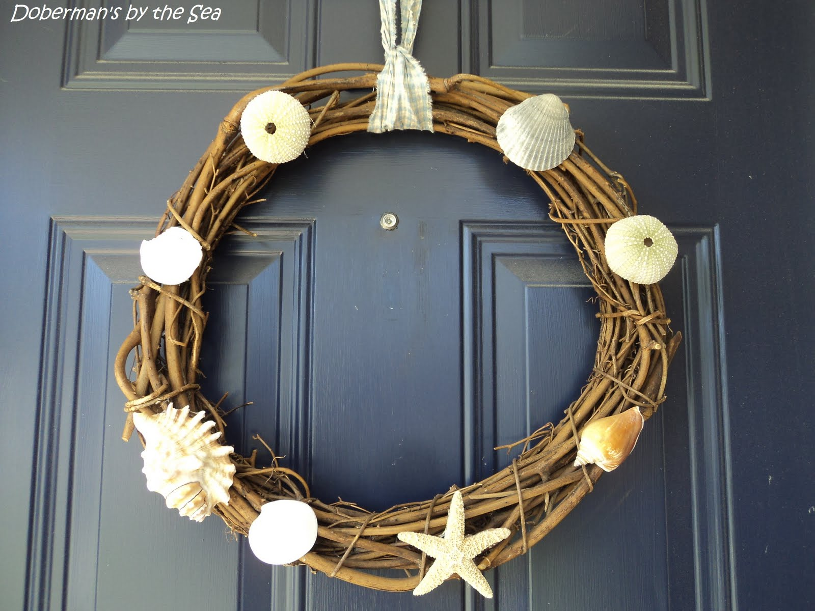 Doberman's by the Sea: {Decorating} Coastal wreath