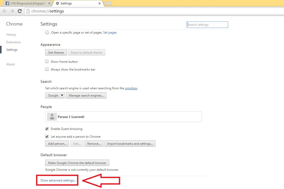 Google theme reset - Click Reset Settigs