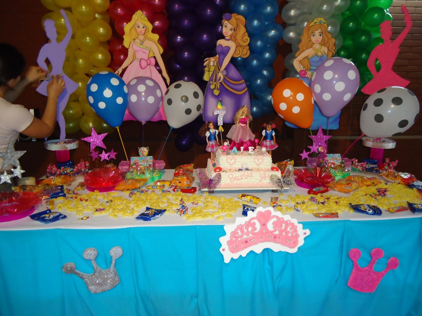 Luly Creaciones - Todo para tus fiestas: Decoración Barbie Escuela ...