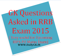 RRB GK QUESTIONS