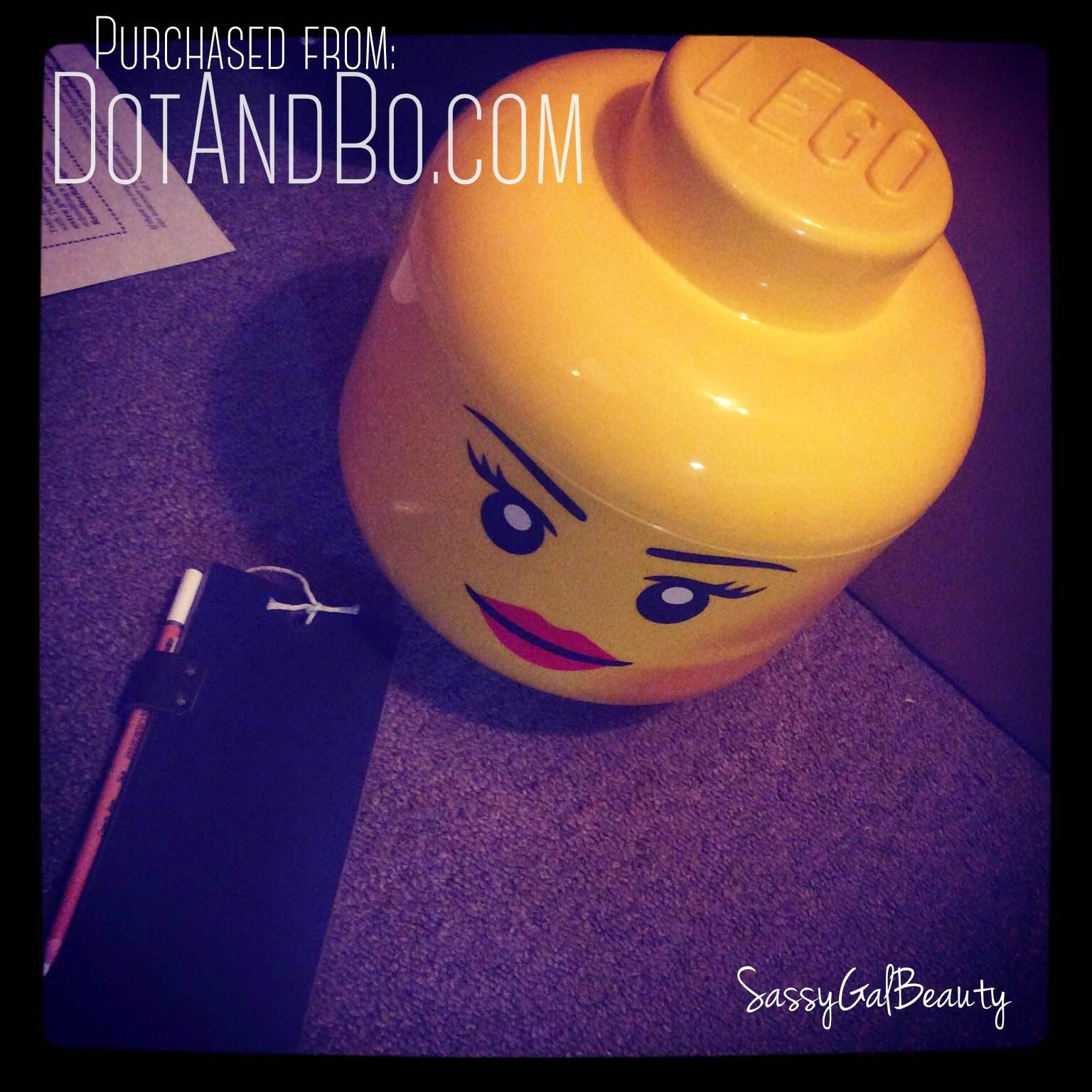 Lego Head and Chalkboard from DotandBo.com