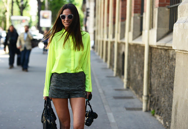 yellow neon shirt