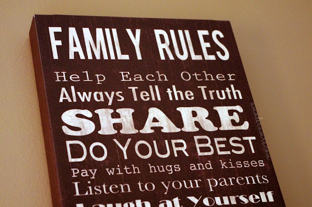 Our Family Rules — A Modern Mrs.