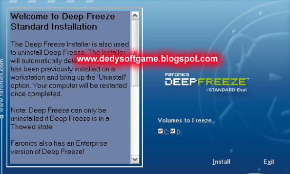 Deep Freeze 7.21 Standard Build Full With Serial Crack Keygen - Free