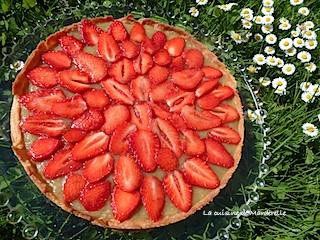 bonne recette tarte à la rhubarbe et fraises