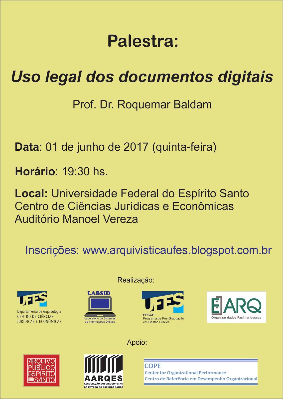 Palestra O uso legal dos documentos digitais
