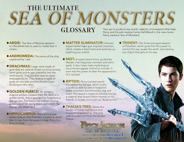 The Ultimate Sea of Monsters Glossary: