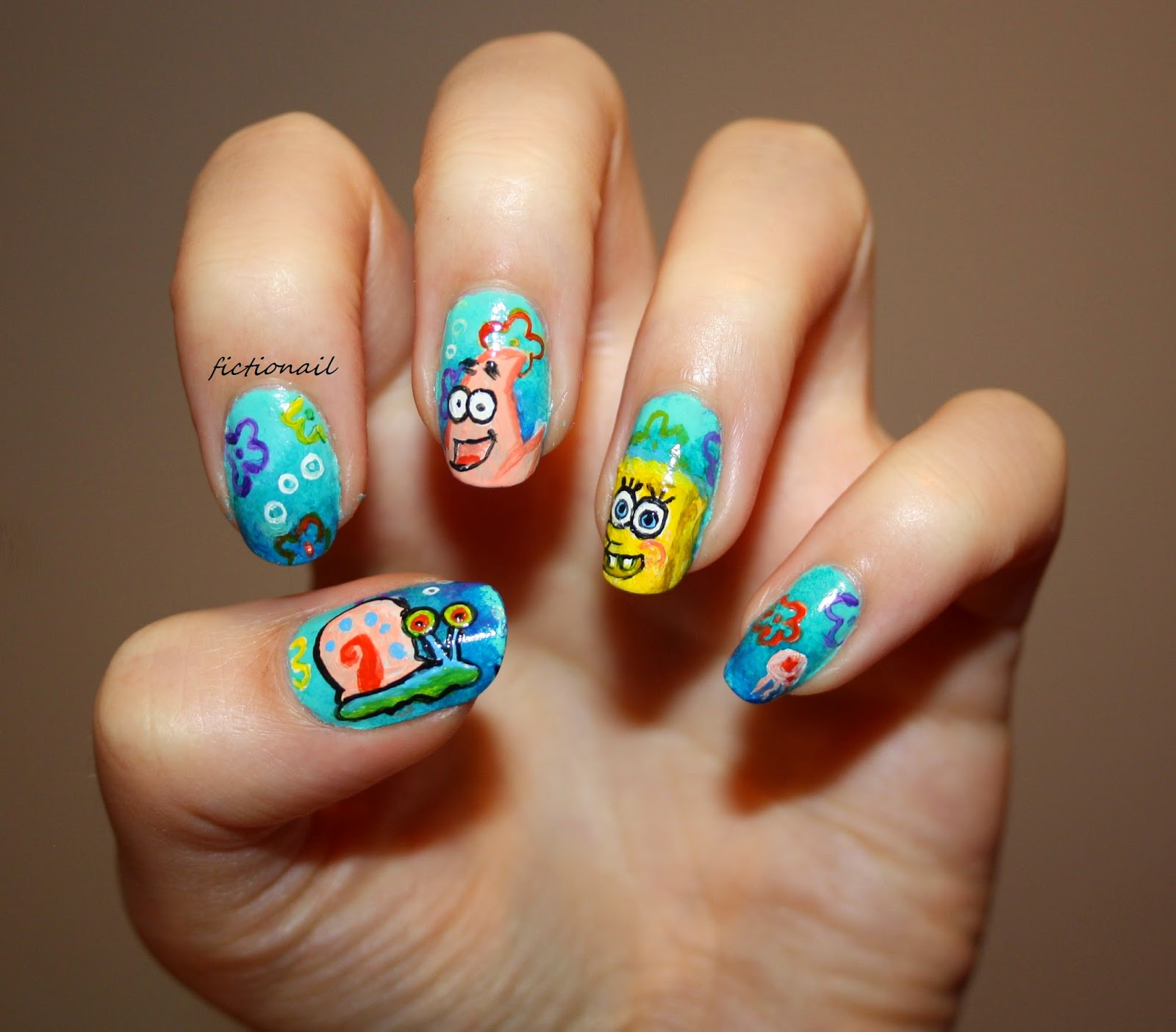Spongebob nails prinsesfo Image collections