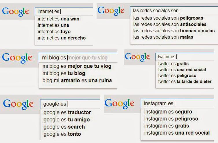 Redes sociales, Twitter, mi blog, internet, instagram, google
