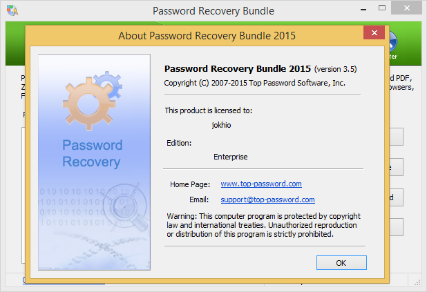 Password Recovery Bundle 2015 Enterprise v3.5 Full Serial Keys