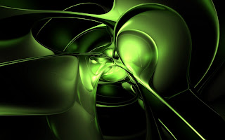 3D Green wallpaper