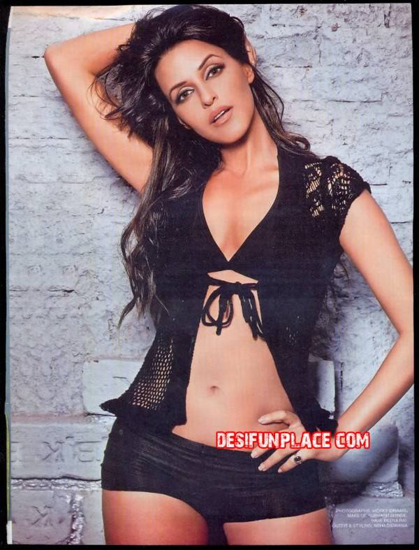 Neha Dhupia Latest HOt Magazine Scans