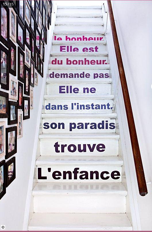 Le club d co 39 zeuses d 39 art customiser personnaliser for Stickers pour marche d escalier