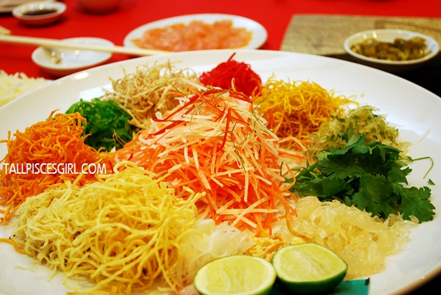 Salmon and Snow Pear Lou Sang