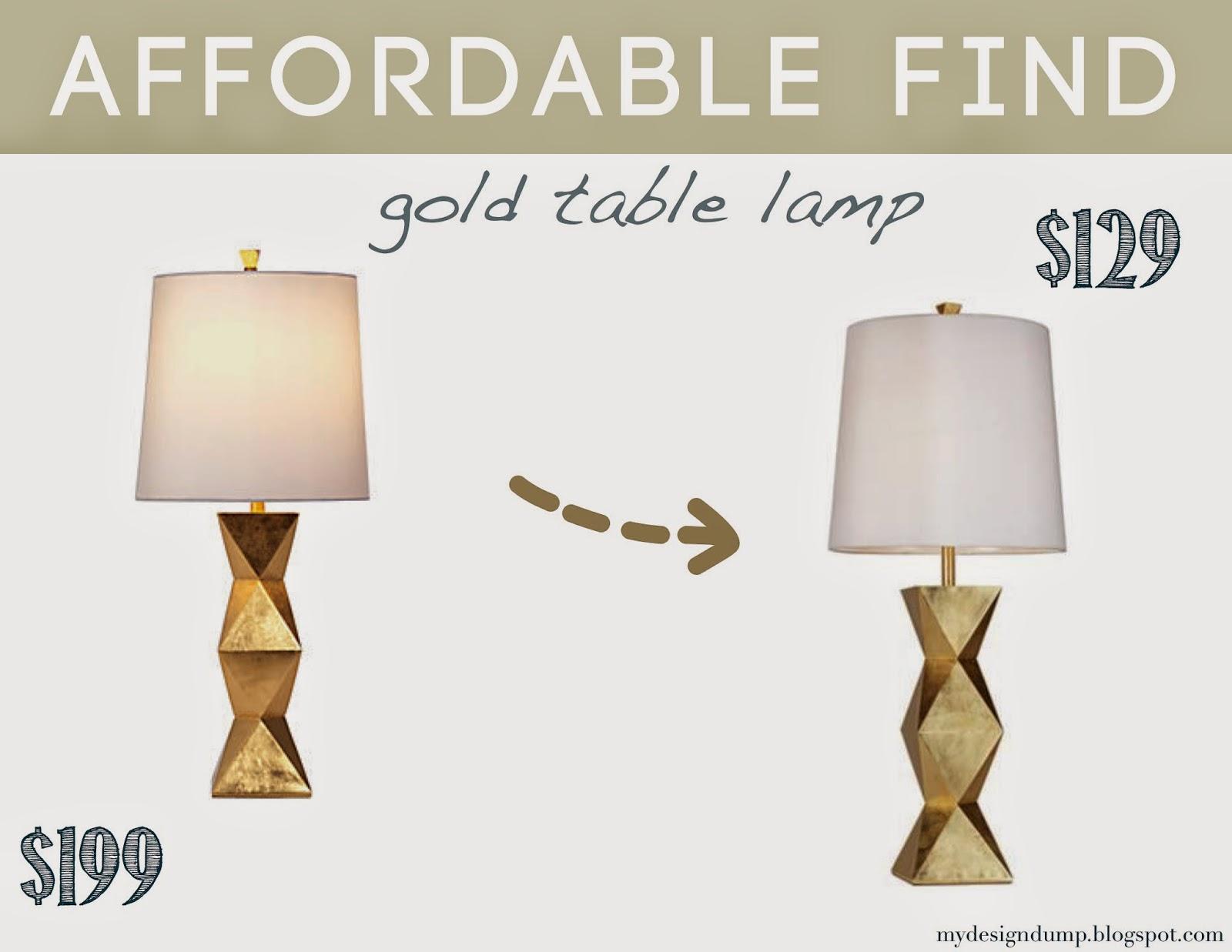 Design Dump Affordable Find Gold Table Lamp