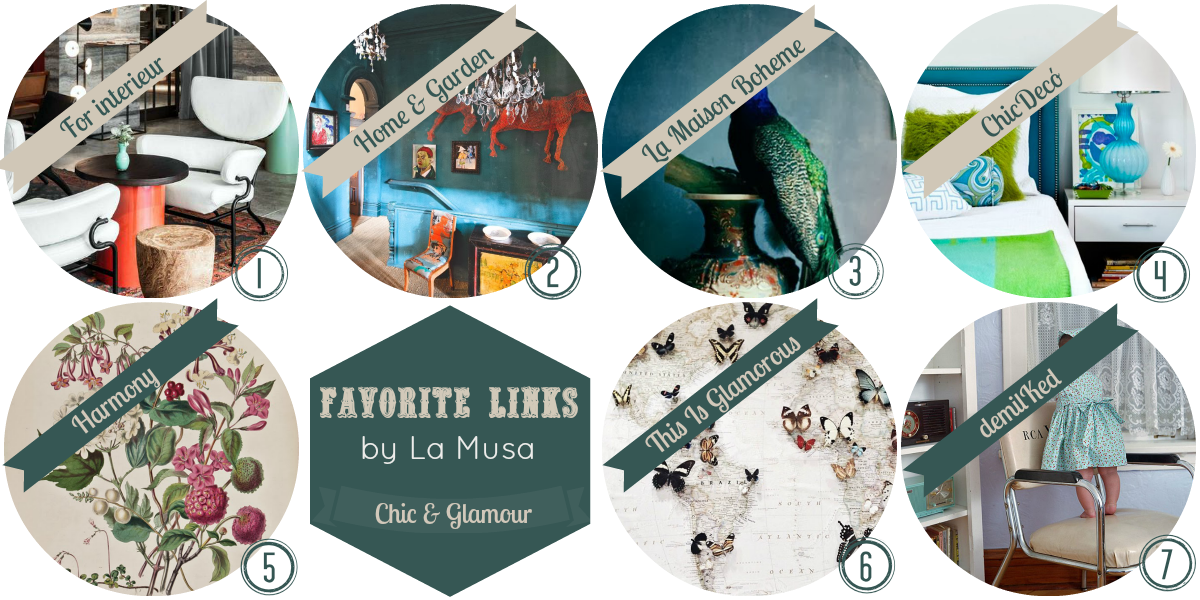 Favorite Links, La Musa Decoración, Inspire, artwork, decor, home, glamour, chic