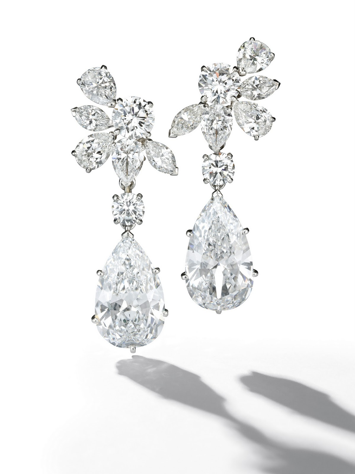 Pair Of Detachable 7 60 57cts Pear Shaped Diamond And Ear Pendants By Van Cleef Arpels Has An Auction Estimate 1 5 Million 2