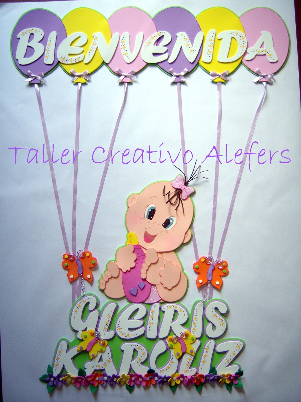 banner en foami para baby shower