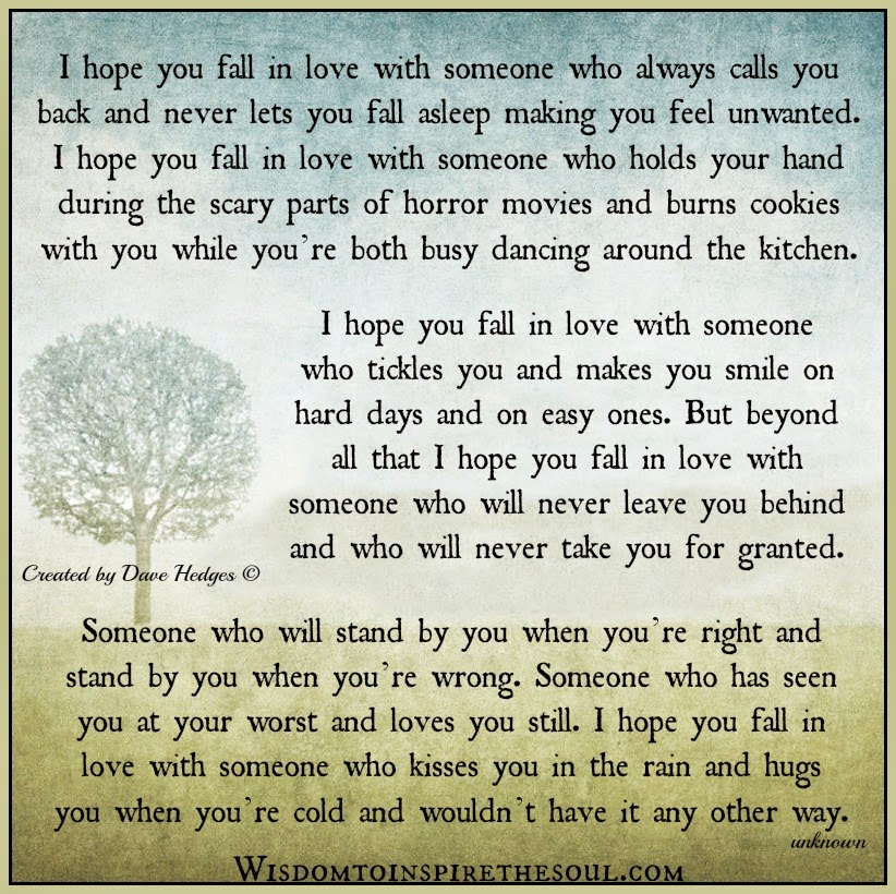 Daveswordsofwisdom.com: When you fall in love with someone.