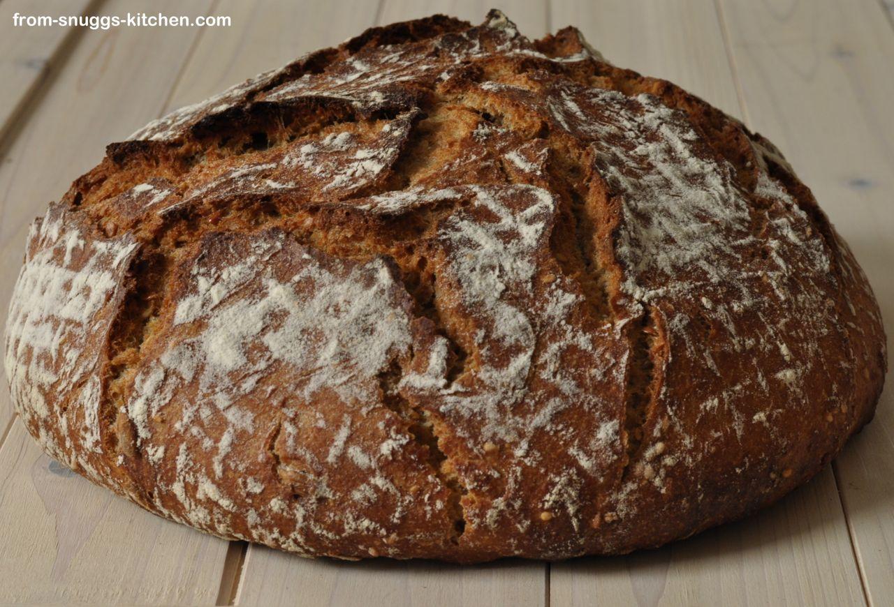 Mehrkorn No Knead Brot