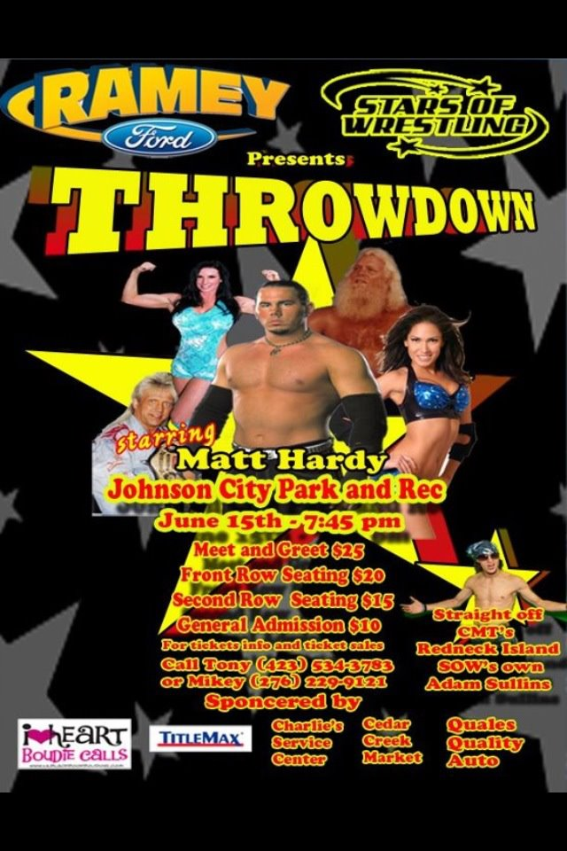 center matt hardy coming to johnson city tn this friday june 15th. Cars Review. Best American Auto & Cars Review