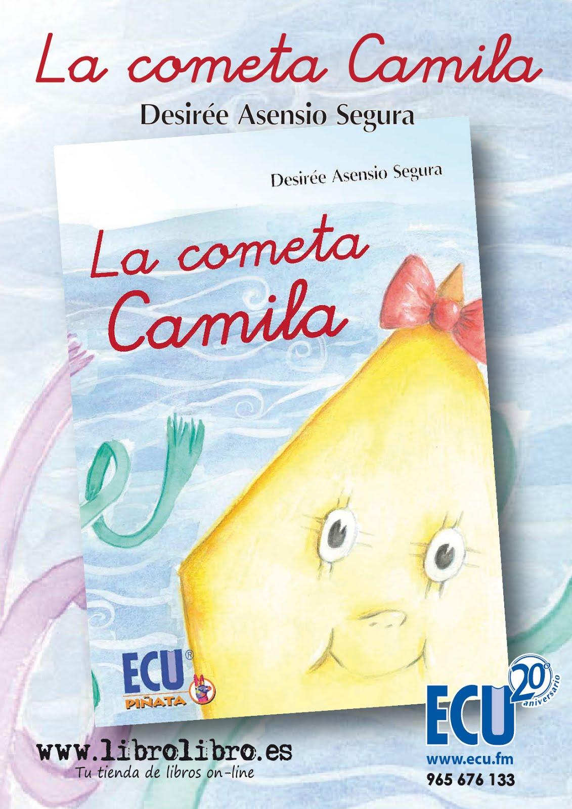 """Flyer de mi cuento """"La cometa Camila"""""""