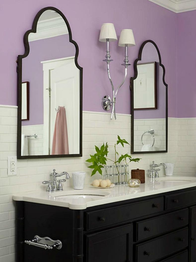 Lavendar coastal bathroom