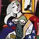 Picasso femme au livre