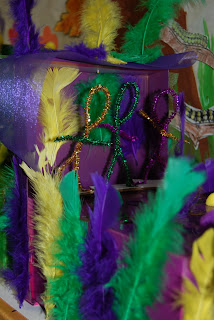 Mardi Gras shoebox float