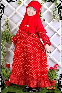 Baju muslim untuk balita perempuan
