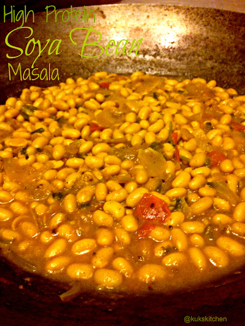 Soya bean masala | Kukskitchen