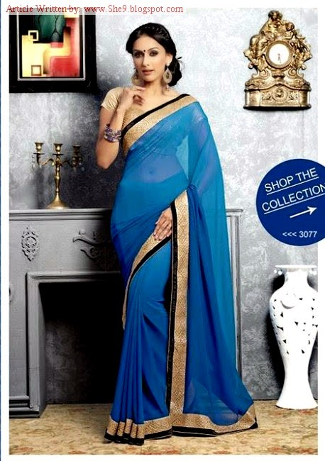 Silhousettes Indian Party Wear Saree Designs