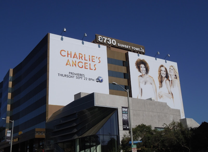 Charlie's Angels 2011 Sunset Strip billboard